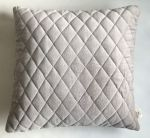 Cushion Velvet Diamond Stitching Silver Grey 50x50cm