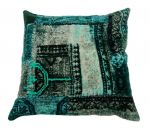 Cushion velvet digital print watergrey 50x50cm