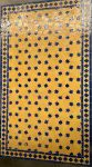 Mosaic Table Lounge Blue Yellow Star 69,5 x 119,5 x hg 48cm