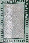 Mosaic Table Salon Lounge Green/Grey Retro 69x119,5 hg 48 cm