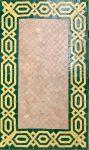 Mosaiek Table Salon Lounge Green/Yellow Retro 78x129,5cm
