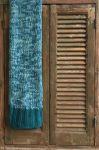 Plaid gebreid Petrol kleuren 130x170cm
