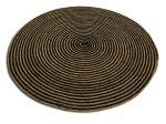 Rug braided jute black naturel round ø150cm
