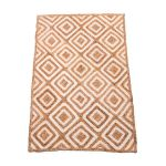 Rug braided jute retro style ecru/natural 120x180cm