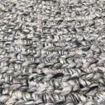 Rug braided wool round 150cm grey cream