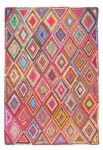 Rug Ethnic Recycled Cotton Colours 120x180cm