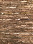 Rug leather brown accent copper & gold 160x230cm
