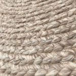Rug Pure Wool Natural ø 250cm