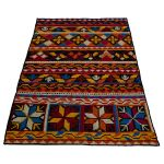 Rug Stitched Wool on leather 160x230cm Multi