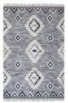 Rug Wool Macramé black/white 190x290cm