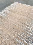 Vloerkleed jute geweven met zilver design 200x300cm