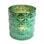 Waxine holder glass green 16x15 cm
