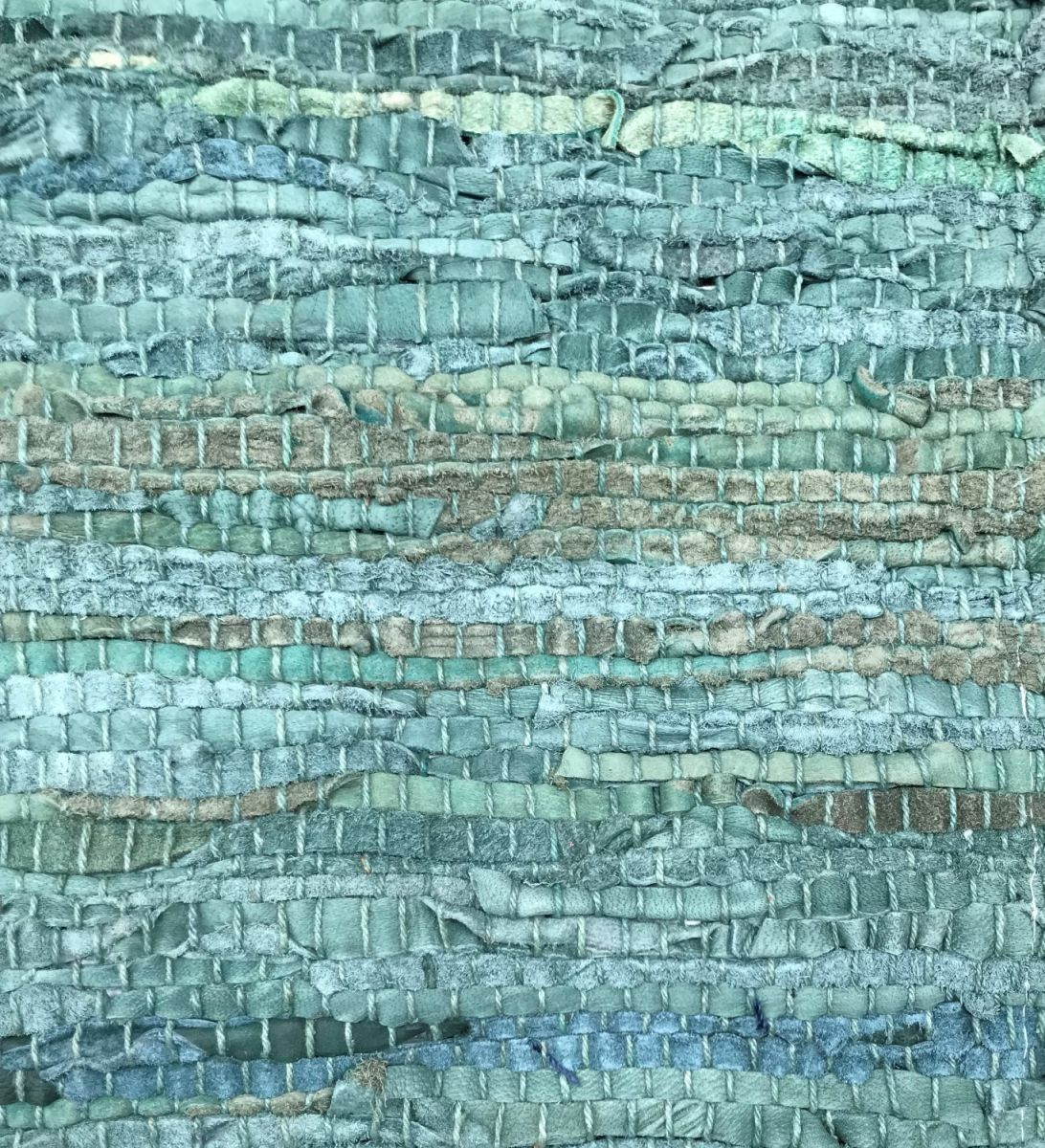 Rug recycled leather petrol 80x140cm Rocaflor, Decorations Interior ...